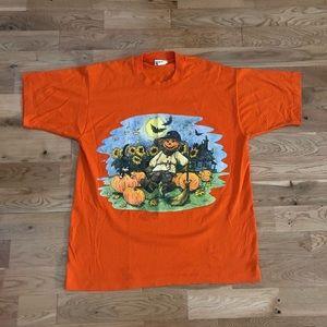 Vintage 90's Halloween Scarecrow Spooky T-Shirt